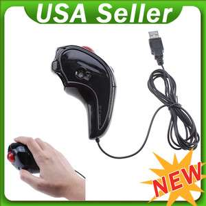 USB Wireless 2.4G Optical Hand Held Mouse Mice w/ Trackball for