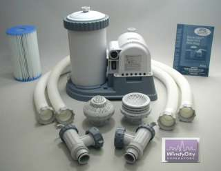 Intex Easy Set Swimming Pool 2500 GPH Timer Filter Pump 0 78257 56633