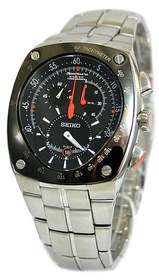SEIKO Mens Sportura Kinetic Tachymeter Chronograph SNL015 Watch