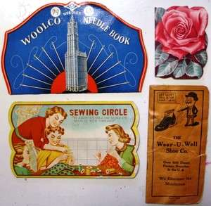 Needle Cards Cases Vintage Roses Woolco
