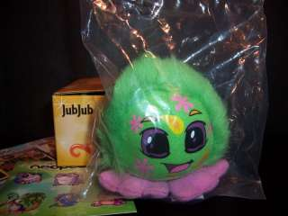 Neopets Disco Jubjub Plush Burger King Stuffed Jub Toy |