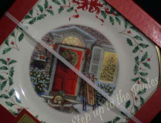 Lenox China NEW Annual Christmas Plate 2005 Home for the Holidays w