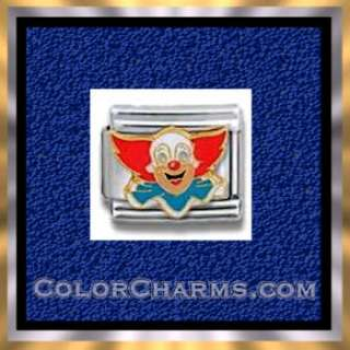 LICENSED Italian Charms BOZO THE CLOWN FACE 9mm CHARM