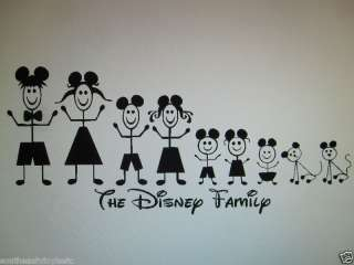 Disney stick family people Mickey ears decal sticker