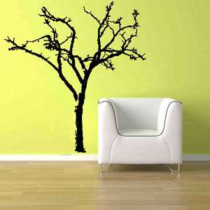 Big Bare Tree Branch Vinyl Wall Art Decor Decal Sticker