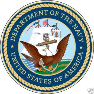 DEPARTMENT OF THE NAVY USA CAR BUMPER STICKER 4X4