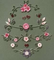 Wedding & Romance Quilling Kit includes Designs, Paper