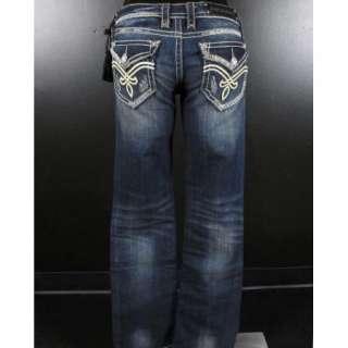 Womens ROCK REVIVAL Boot Cut Jeans ELAINA B21 WHIPS